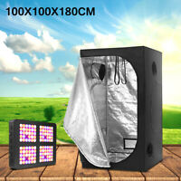 Indoor Hydroponic Greenhouse Growing Plant Light Reflective Tent Room+Grow Light