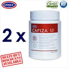 2 x Urnex CAFIZA E31 100 Cleaning Tablets Espresso Machine Cleaner Organic