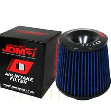 "Universal 3"" Short Ram Cold Air Intake Turbo Charger High Flow Filter Black Blue"