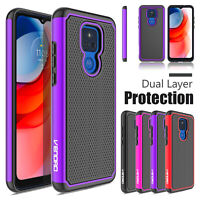 For Motorola Moto G Play 2021 6.5-inch Shockproof Rugged Rubber Phone Case Cover