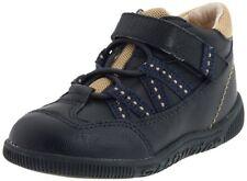 Boys Footmates Soft Navy Leather Shoes Infant Boys Size 6 1/2 M
