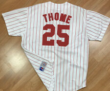 VTG Russell Athletic Philadelphia Phillies Jim Thome MLB Jersey SZ L Pinstriped