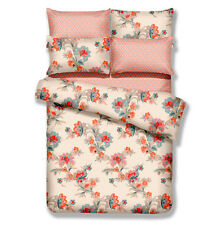 DM501K - King Duvet Cover Set - 6 Piece Floral 100% Cotton Dolce Mela Bedding