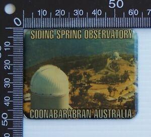 VINTAGE SIDING SPRINGS OBSERVATORY COONABARABRAN AUSTRALIA ENAMEL FRIDGE MAGNET