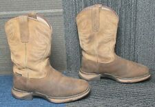 Wmns ARIAT Anthem Soft Toe Brown Leather Work Boots sz 6 C