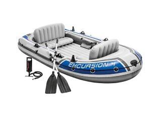 Intex Excursion Kayak NEW Boat 4 Seater Inflatable Raft Oars & Pump- Ex-Display