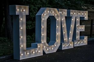 Wedding Display LOVE 4ft Light up letters *HIRE ONLY*