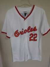4f807f6ed NWT SGA MLB Baltimore Orioles Jim Palmer   22 Jersey Men Medium with Stain