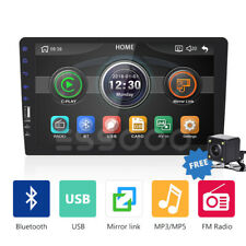 "Single 1 Din 9"" Car Stereo MP5 Radio Player Bluetooth USB FM Touch Screen Camera"