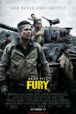 FURY Affiche Cinéma / Movie Poster 53x40 Brad Pitt Shia LaBeouf