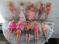 Vintage 1960's Barbie Dolls Lot Of 10