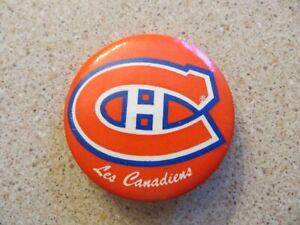 Rare 1970-71 Montreal Canadiens Habs Logo Pin Back Button NHL Hockey