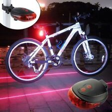 5 Led + 2 Laser Red Tail Bike Bicycle Light Rear Flashing Night Safety Lamps