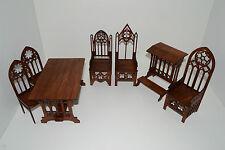 Set Gothic Furniture for dolls 1:6 12 inch Barbie FR handmade unique OOAK