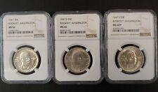 1947 Booker T. Washington Half Dollars - Lot of 3 Coins (P,D,S) - MS 66 NGC