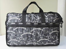 LeSportsac Snoopy Happiness Allover 7185 Large Weekender Travel Bag