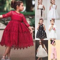 Baby Girl Kid Lace Dress Party Wedding Bridesmaid Dance Summer Princess Dresses