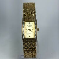 Gruen Precision Womens GP3039 Gold Tone Gold Plated Band Quartz Watch