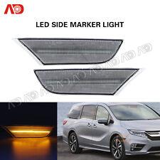 For Honda Odyssey 2018 2019 2020  Clear Lens LED Side Marker Light 2PCS Amber