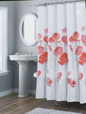 Nicole Miller Fabric Shower Curtain - Petunia Red