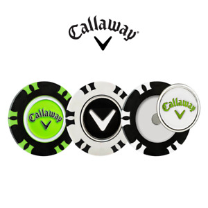 Callaway Golf Ball Dual Mark Poker Chips, Magnetic, Pack of 3. Free P&P NEW!