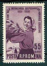 1956 Peasant women,Collective Farming 5 years,Wheat,Romania,1596,CV$15,MNH,Error