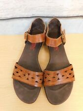 Pikolinos ladies flat brown leather sandals UK 4 EU 37 Summer comfort hippy boho