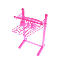 Doll Gift Pink Plastic Hangers For  Clothing Dress Accessories TP