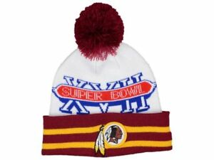 Washington Redskins New Era Super Bowl NFL Football Team Knit Pom Winter Cap Hat