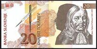 1992 SLOVENIA 20 TOLARJEV BANKNOTE * UNC * P-12 *