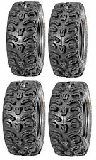 Full set of Kenda Bear Claw HTR Radial (8ply) 26x9-12 and 26x11-12 ATV Tires ...