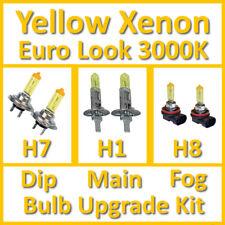 Warm White 3000K Yellow Xenon Headlight Bulb Set Main Dip Fog H7 H1 H8 Kit