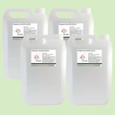 Phosphoric Acid 85% ACS Food Grade Rust Remover 4 x 5 Litre (20L)