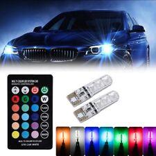 2 X T10 6SMD 5050 RGB LED Seitenlicht Leselampe Standlicht Birne + Fernbedienung