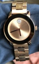 Movado Women's Swiss Bold Rose Gold Ion-Plated Stainless Steel Bracelet