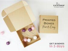 Packing Cardboard Boxes Postal Cartons Mailing Packaging Kraft Square Brown Box