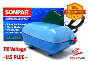 WEIPRO Fresh & Salt water Fish Tank Ultra Quiet Mini Air Pump, 110V, US Plug