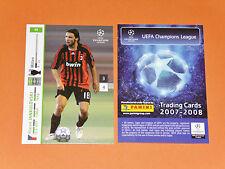 JANKULOVSKI AC MILAN CALCIO FOOTBALL CARDS PANINI CHAMPIONS LEAGUE 2007-2008