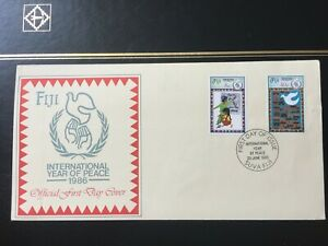 """Fiji First Day Cover - FDC 1986 """"International Year of Peace"""""""