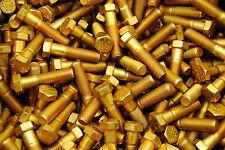 (75) Hex Head Bolts 7/16-20 x 1-3/4 Grade 8 Fine Thread Yellow Zinc USA Made
