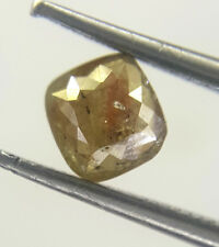 Antiqe Natural Loose Diamond Cushion shape Rose Cut Red Yellow Mix Color 0.41TCW