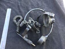VINTAGE WW2 TANK HEADPHONES DATED 1943