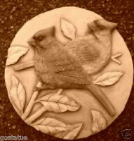 Cardinal bird plaque mold plaster cement resin wax casting mould