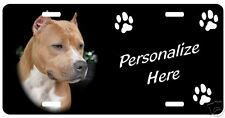 Pit Bull, red   Personalized Automobile License Plate