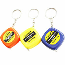 1X Easy Retractable Ruler Tape  Measure mini Portable Pull Ruler Keychain tbca