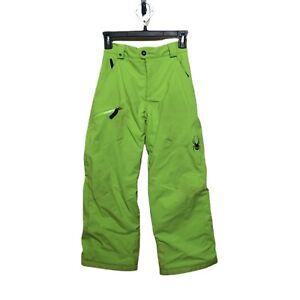 Spyder  - Kids Insulated Highlight Green Ski Snowboard Pants Size 10