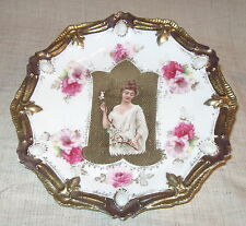 RS Prussia Spring Season Jeweled Portrait Plate