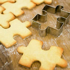 Hot Puzzle Shape Fondant Cookie Mold Cutter Cake Decor Tool Stainless Steel Xmas