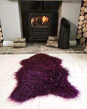 Soft Fluffy Faux Fur Sheepskin Rug Non Slip Rubber Shaggy Bedside Cozy Furry