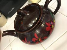 ROYAL CANADIAN Art Pottery Hamilton Canada Tea Pot-floral